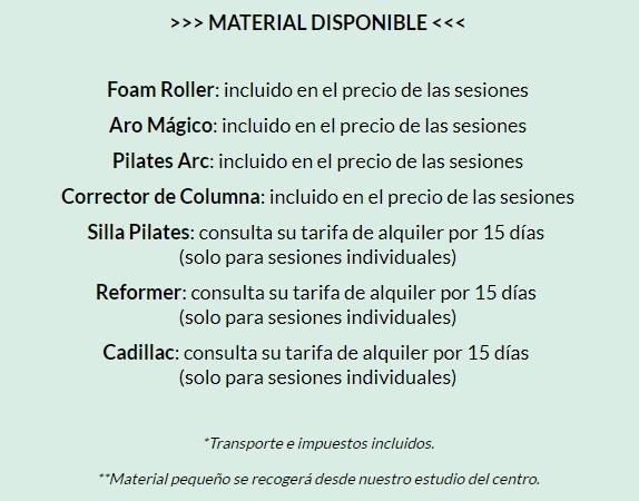 Material disponible Hygge Pilates