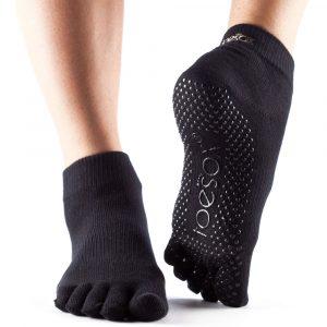 Calcetín de Pilates Full Toe Ankle - black