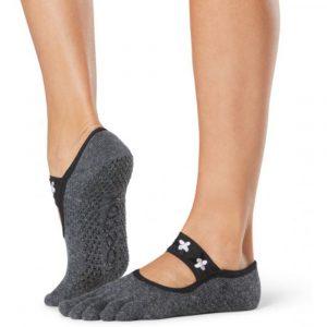 Calcetín Mia - grip socks in pansy